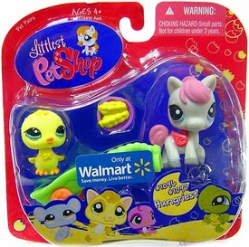 Littlest Pet Shop Exclusive Hungriest Pet Pairs Figures Baby Chick & Pony with Corn