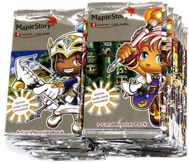 Maple Story Card Game Base Premiere Series 1 Lot of 24 Packs  [Equal to a Booster BOX!]