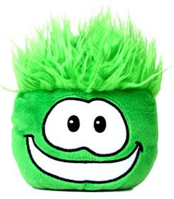 Disney Club Penguin 4 Inch Series 1 Plush Puffle Green [Includes Coin with Code!]