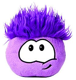 Disney Club Penguin 4 Inch Series 1 Plush Puffle Purple [Includes Coin with Code!]