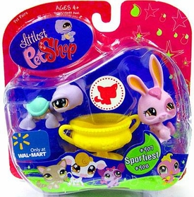 Littlest Pet Shop Exclusive Pet Pairs Figures Turtle & Purple Bunny