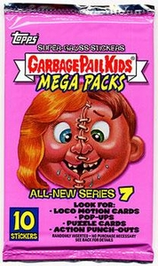 Topps Garbage Pail Kids Series 22 (All-New Series 7) Jumbo Trading Card Stickers Mega Pack