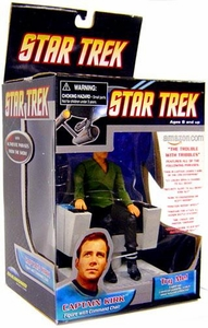 Diamond Select Toys Star Trek Trouble with Tribbles Deluxe Figure Captain Kirk [Command Chair]
