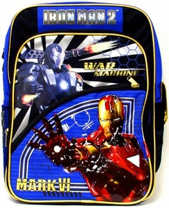Iron Man 2 Movie War Machine & Mark VI Iron Man Bookbag / Backpack