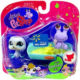 Littlest Pet Shop Exclusive Pet Pairs Figures Seal & Purple Hermit Crab