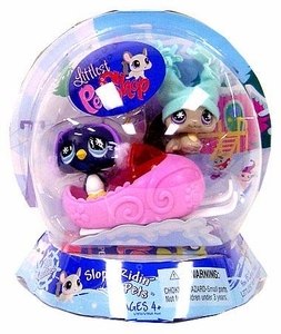 Littlest Pet Shop Chilliest Pet Pair Slope Ridin' Pets [Chinchilla & Penguin]