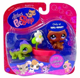 Littlest Pet Shop Exclusive Littlest Pet Pair Iguana & Racoon with Flowerpot