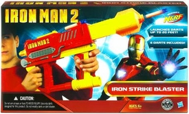 Iron Man 2 Movie Action Figure Iron Strike Nerf Blaster Iron Man