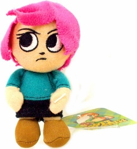 Mezco Toyz Scott Pilgrim Mini Plush Clip Ramona Flowers [Pink Hair]
