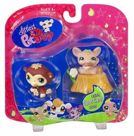 Littlest Pet Shop Exclusive Sportiest Pet Pairs Ape & Mouse with Flower