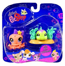 Littlest Pet Shop Pet Pairs Octopus & Green Fish