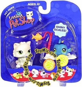 Littlest Pet Shop Pet Pairs Figures Cat & Fishy with Shiny Scales