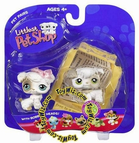Littlest Pet Shop Pet Pairs Figures 2 White Doggies