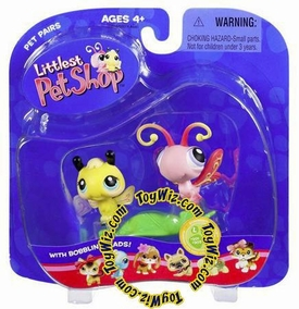 Littlest Pet Shop Pet Pairs Figures Bumblebee & Butterfly Very Hard to Find!