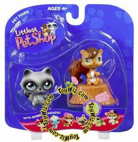 Littlest Pet Shop Pet Pairs Figures Chipmunk & Raccoon