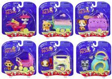 Littlest Pet Shop Set of 6 Pet Pairs Figures [Includes Bumblebee with Butterfly]