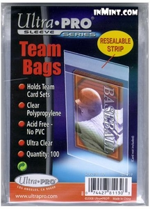 Ultra Pro Card Supplies 100 Count Team Bags