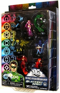 DC HeroClix Blackest Night Deluxe Starter Set Game [Includes 7 Figures]