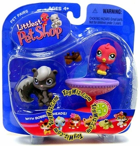 Littlest Pet Shop Pet Pairs Figures Bird & Squirrel
