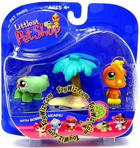 Littlest Pet Shop Pet Pairs Figures Turtle & Toucan Bird