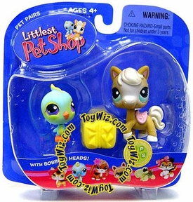 Littlest Pet Shop Pet Pairs Figures Horse & Bird