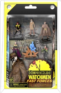 DC HeroClix Watchmen 2011 Fast Forces Deluxe Starter Set Game [Includes 6 Figures]
