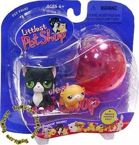 Littlest Pet Shop Pet Pairs Figures Black Kitty & Hamster