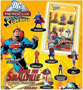 DC HeroClix Superman Fast Forces Deluxe Starter Set [Includes 6 Figures]