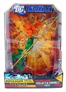 DC Universe Classics Series 2 Action Figure Aquaman {Long Hair} [Build Gorilla Grodd Piece!]
