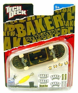 Tech Deck Single 96mm Skateboard Baker [Greenish Brown & Black]