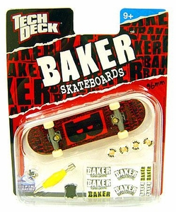 Tech Deck Single 96mm Skateboard Baker [Red & Black]