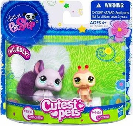 Littlest Pet Shop Cutest Pets Figures Soft Chinchilla & Lady Bug