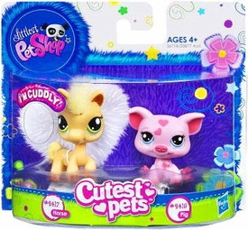 Littlest Pet Shop Cutest Pets Figures Soft Horse & Pig