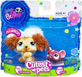 Littlest Pet Shop Cutest Pets Figures Soft Labradoodle & Mouse