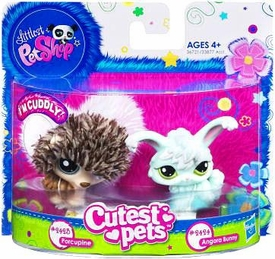 Littlest Pet Shop Cutest Pets Figures Soft Porcupine & Angora Bunny