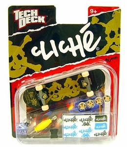 Tech Deck Single 96mm Skateboard Cliche [Brown & Green Skull]