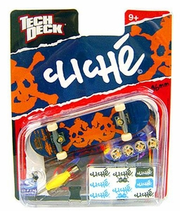 Tech Deck Single 96mm Skateboard Cliche [Orange Skull]