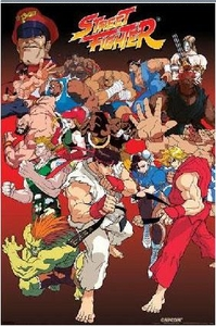 Street Fighter Poster Anime Style