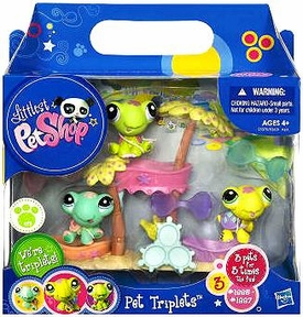 Littlest Pet Shop Pet Triplets 3-Pack Turtles