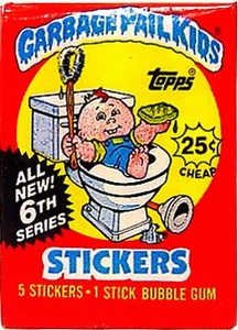 Topps Garbage Pail Kids Trading Cards Series 6 Wax Booster Pack