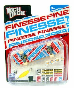 Tech Deck Single 96mm Skateboard Finesse [Red, White & Blue Logo]