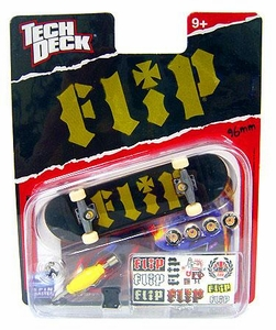 Tech Deck Single 96mm Skateboard Flip [Black & Green]