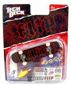 Tech Deck Single 96mm Skateboard Flip [Red & Black Bandana]