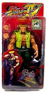 NECA 2009 SDCC San Diego Comic-Con Exclusive Street Fighter 4 Action Figure Guile in Charlie Costume