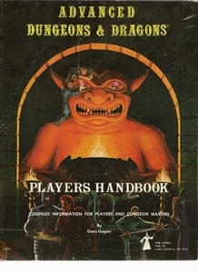 Advanced Dungeons & Dragons Vintage Book Hardcover Player's Handbook [Used Condition: Poor]