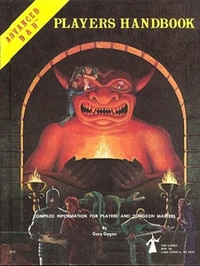 Advanced Dungeons & Dragons Vintage Book Hardcover Player's Handbook 6th Printing [Used Condition: Poor]