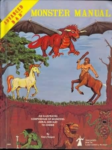 Advanced Dungeons & Dragons Vintage Book Hardcover Monster Manual [Used Condition: Poor]