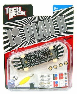 Tech Deck Single 96mm Skateboard Plan B [Paul Rodriguez]  Black & White PROD
