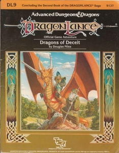 Advanced Dungeons & Dragons DragonLance Vintage Book Softcover DL9 Dragons of Deceit [Used Condition: Good]