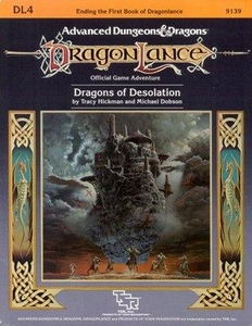 Advanced Dungeons & Dragons DragonLance Vintage Book Softcover DL4 Dragons of Desolation [Used Condition: Good]